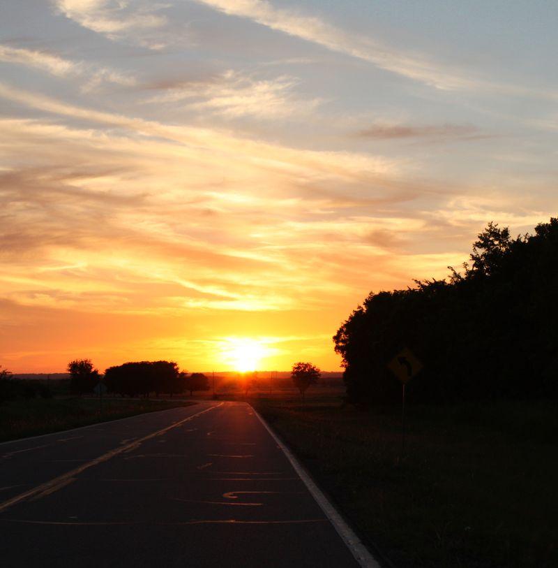 Sunset Near Wapanucka