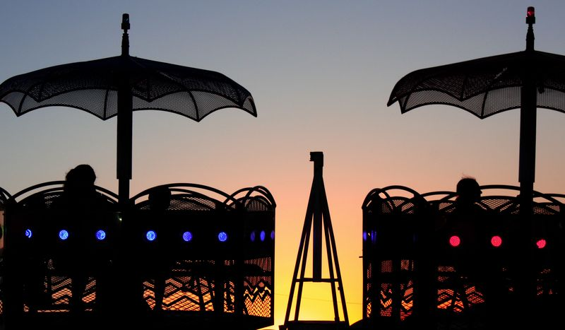 Carnival Ride at Sunset 1