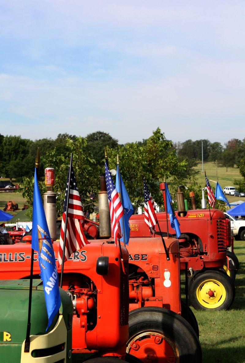 Line of Tractors
