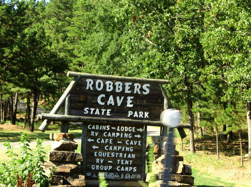 Robbers Cave State Park Sign