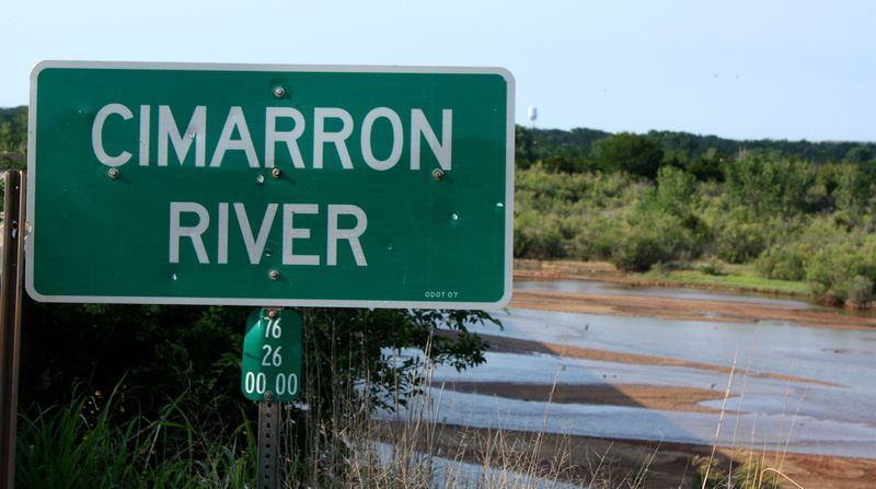 Cimarron River Sign
