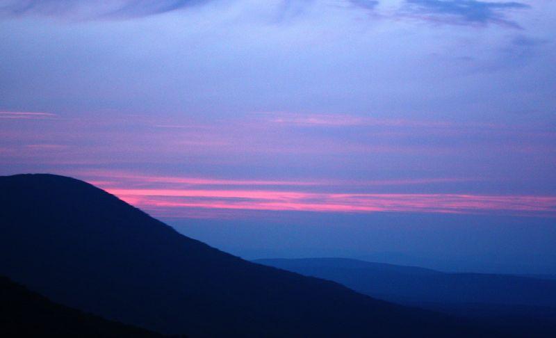 Dusk Ouachita Mountains