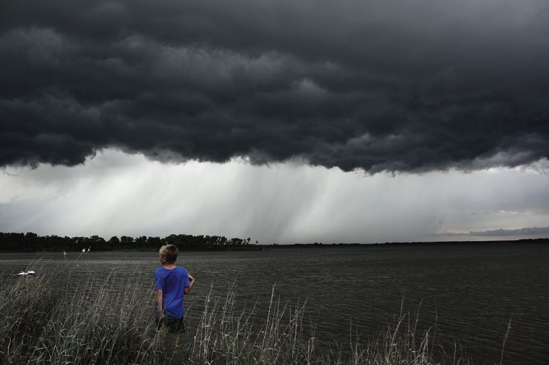 Justin and Storm clouds 2