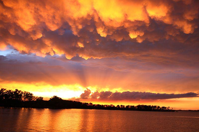 Foss lake Sunset in Yellows