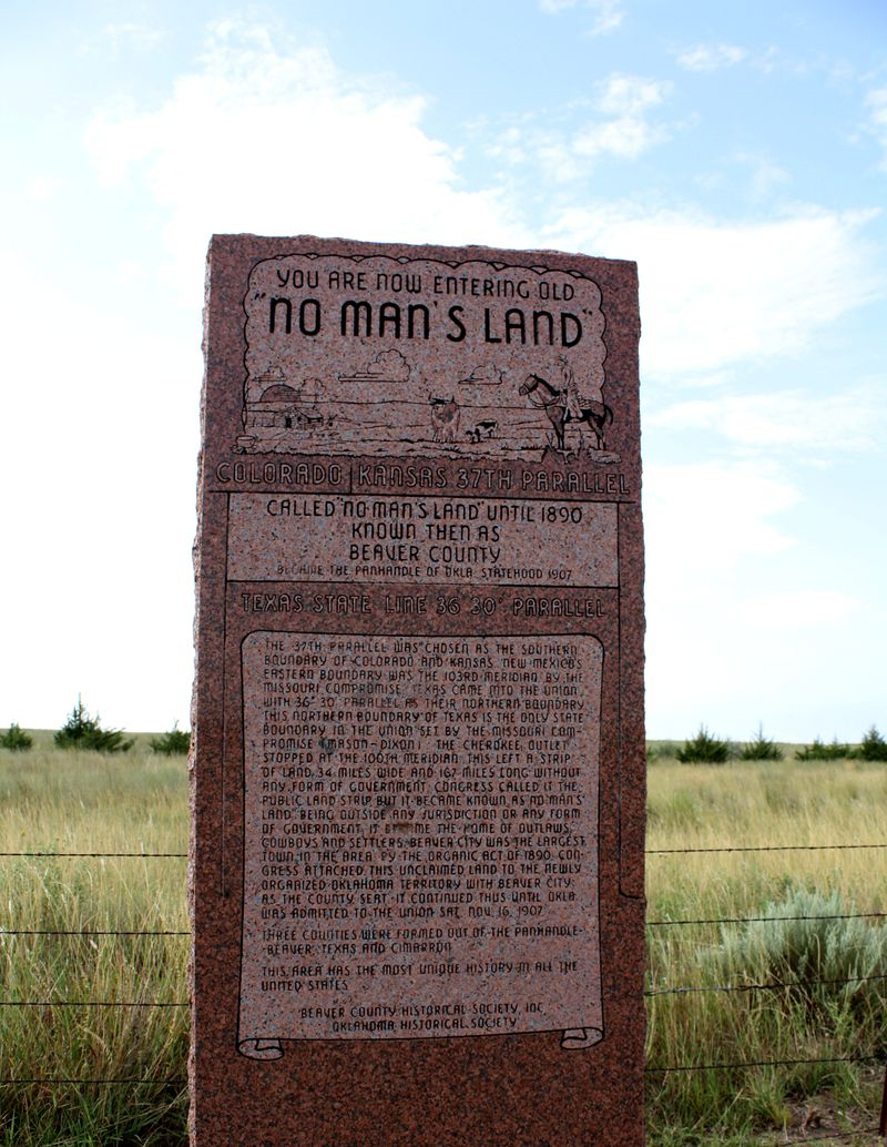 No Man's Land Marker