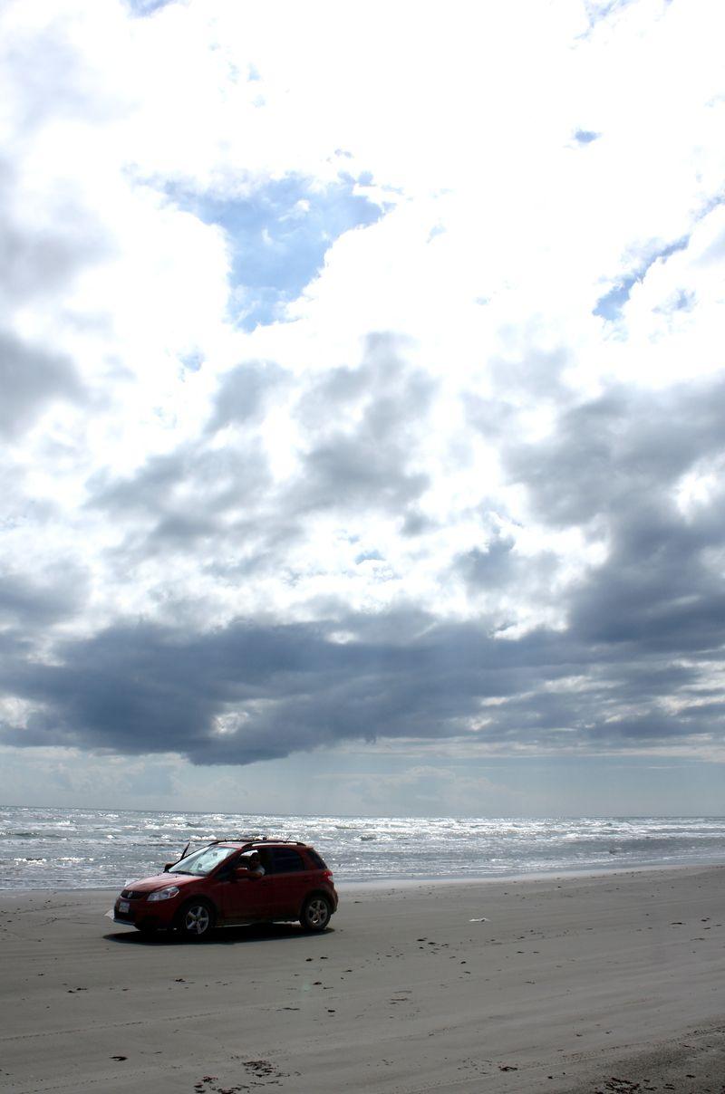 Car on Padre Beach