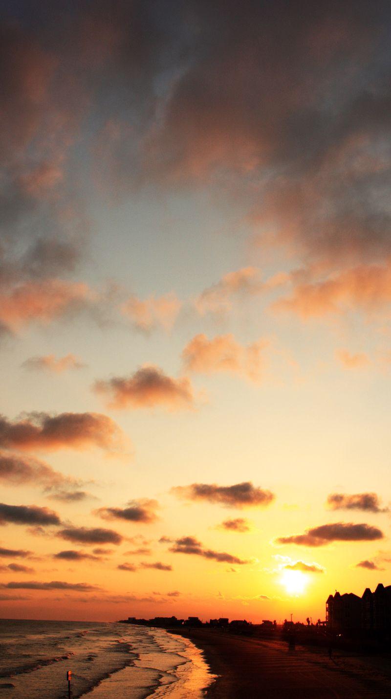 Beach Sunset Galveston TX