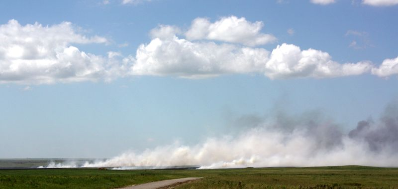 Fire at Tall Grass Prairie Preserve