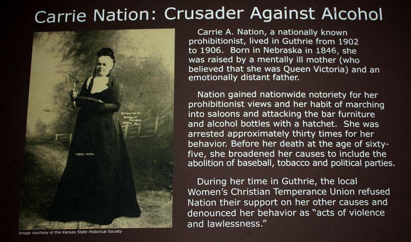 Carrie Nation Guthrie Exhibit