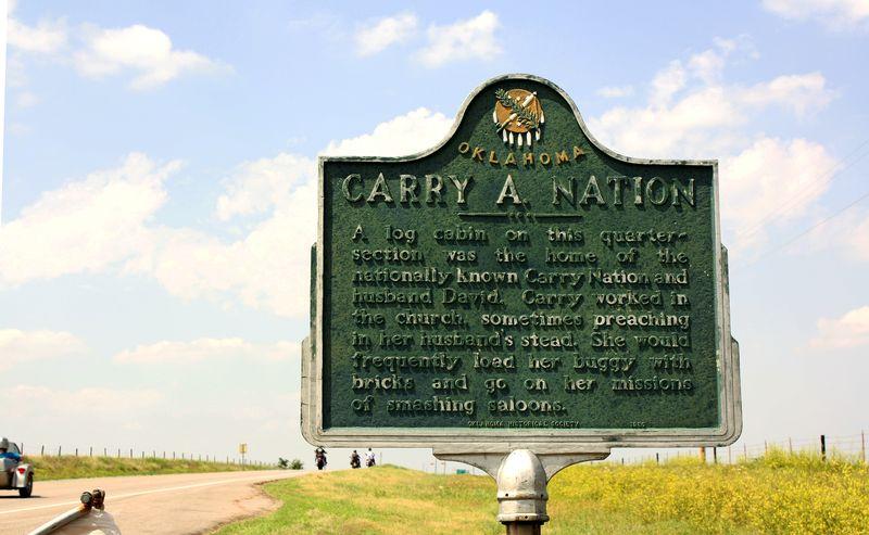 Carry Nation Historical Marker