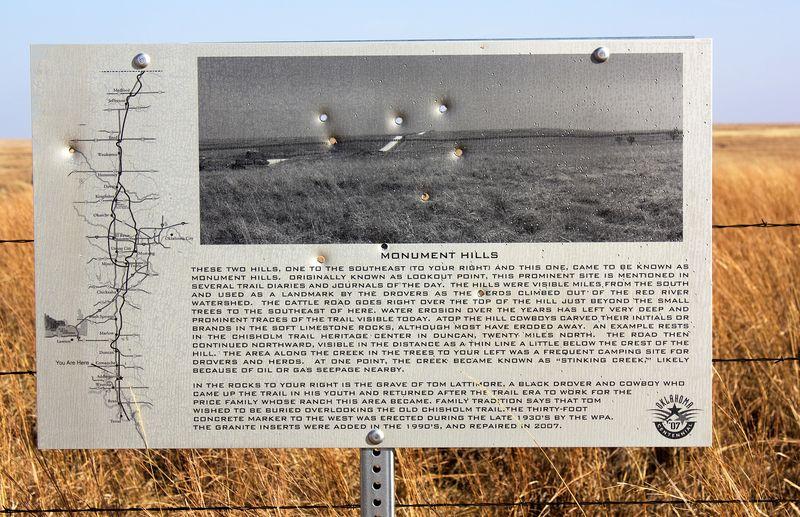 Monument Hills Sign Chisholm Trail Addington