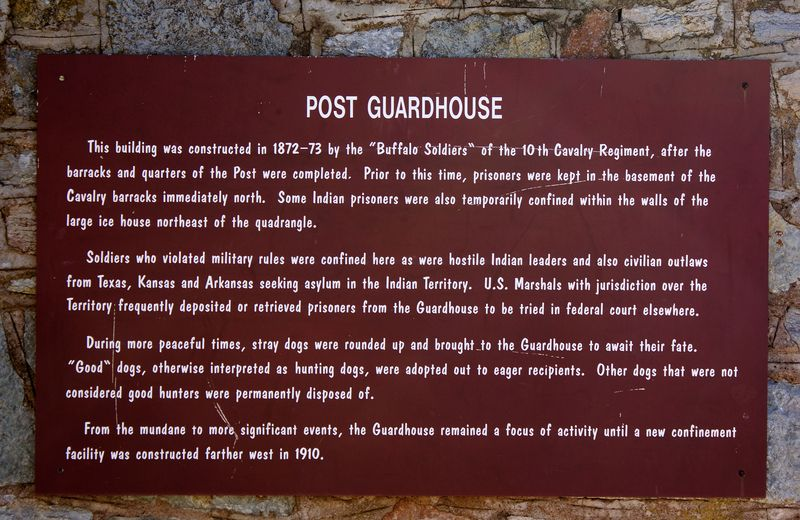 Guardhouse Sign at Ft Sill