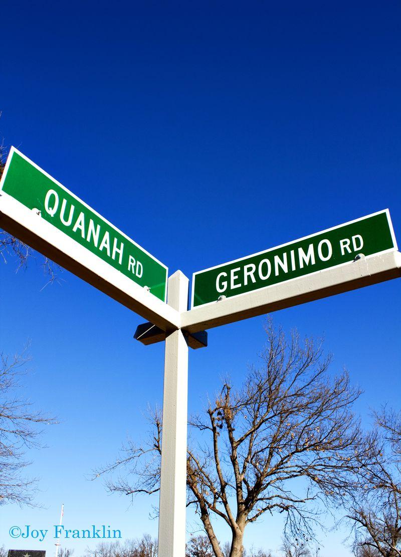Quanah Geronimo Sign