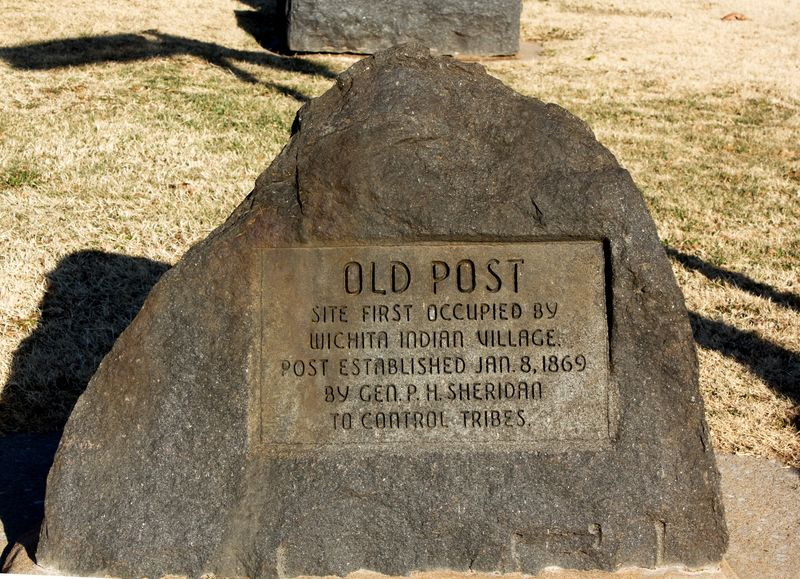 Old Post Marker at Fort Sill