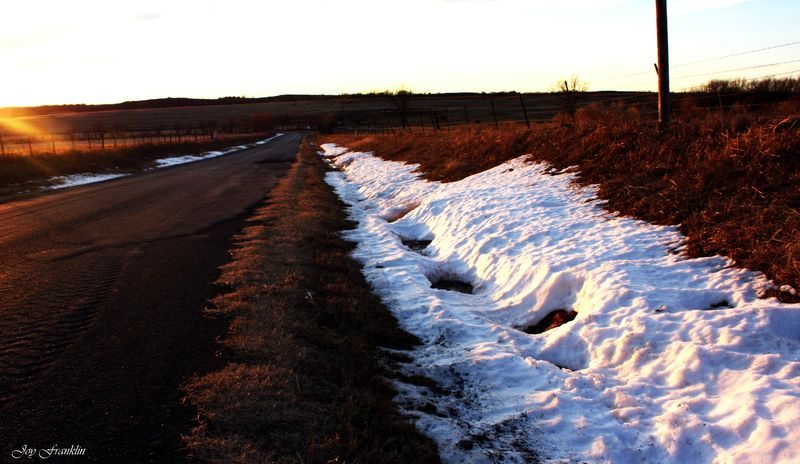 Snow in Ditch by Strains