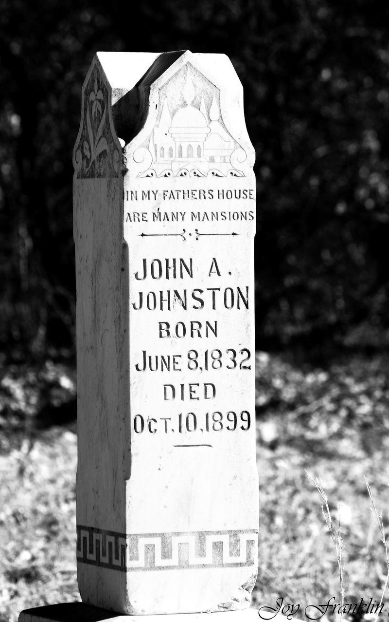 John Johnston Grave Tucker Cemetery Duncan OK