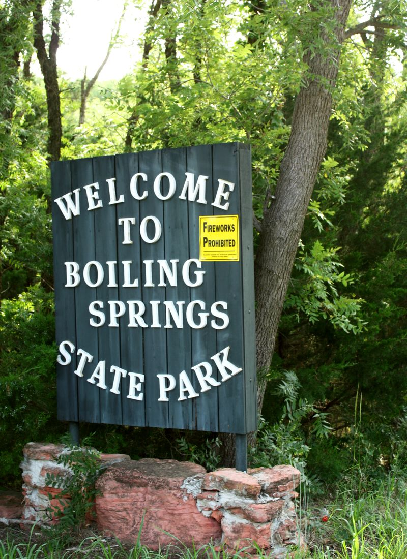 Boiling Springs Sign