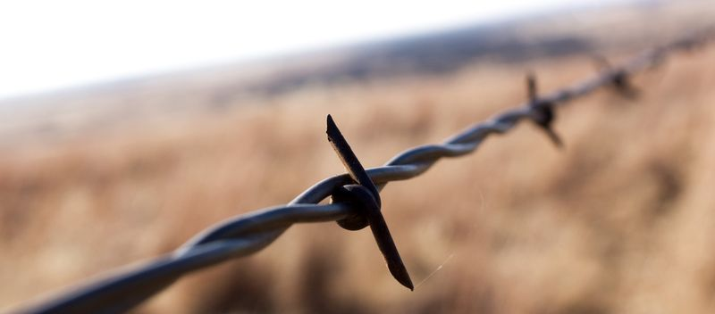 Barbed Wire at Monument HIll