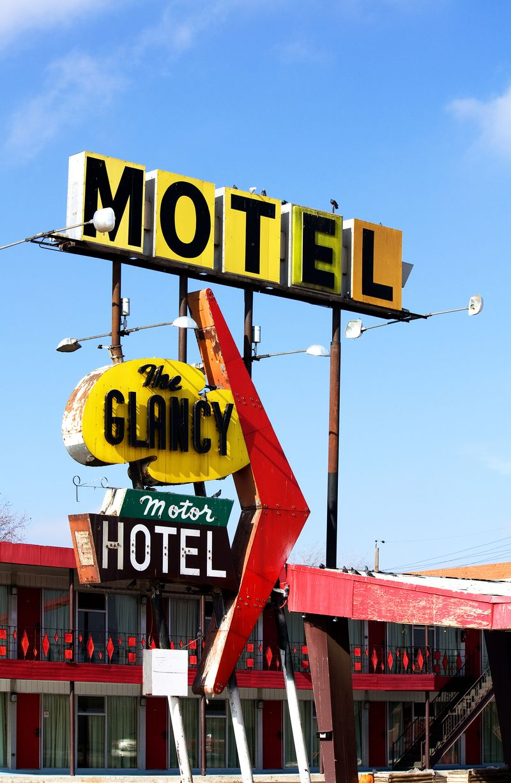 The Glancy Motor Hotel in Clinton Oklahoma