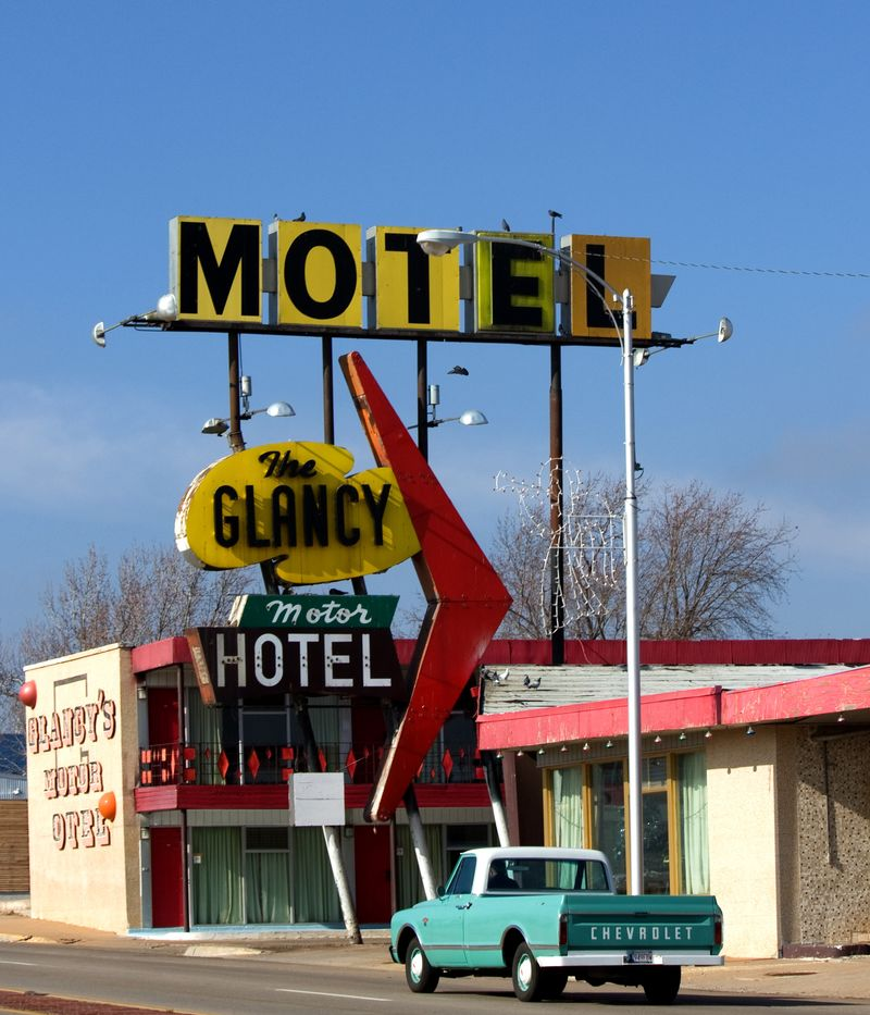 Glancy Motel with Old Chevy