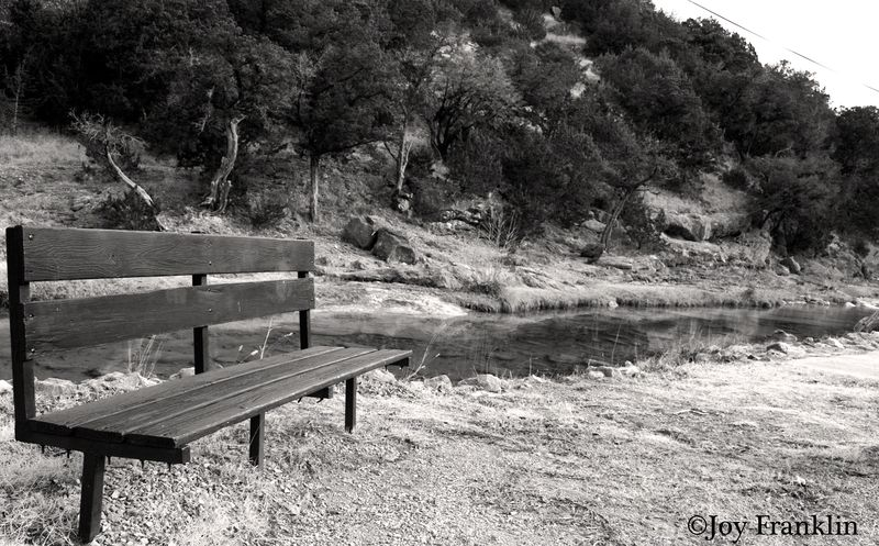 Empty Bench at Turner Falls Davis OK