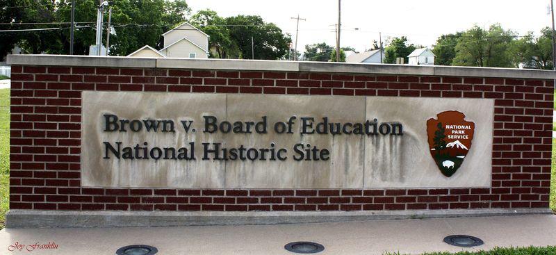 Brown v Board sign topeka ks