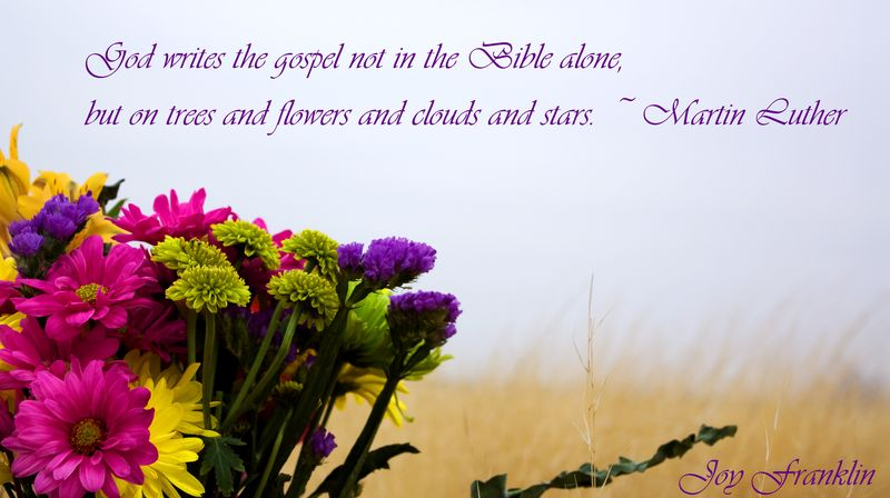 Luther quote flowers 2