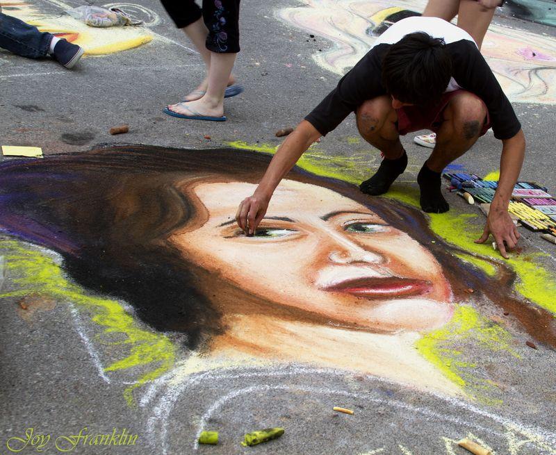 The Artist Chickasha Chalk Art Festival