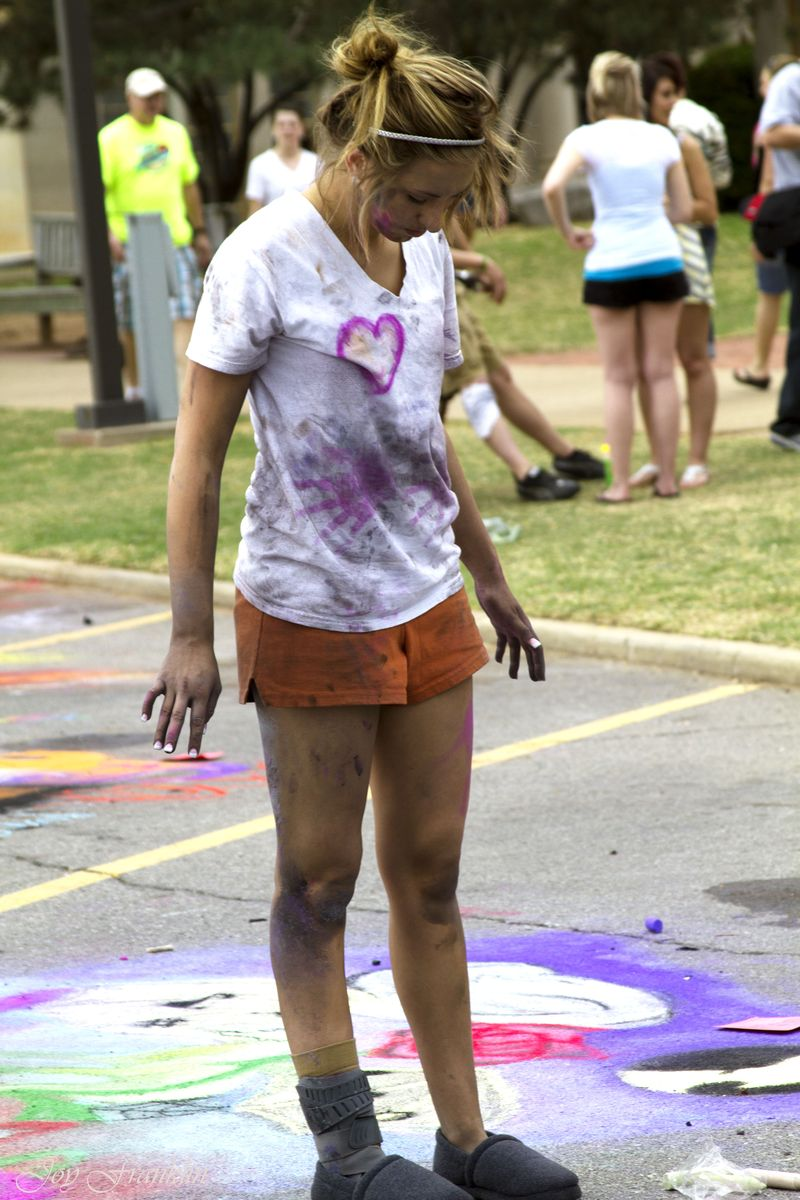 USAO chalk art