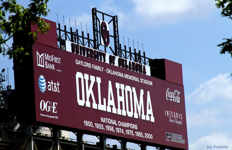 Sign for OU Stadium