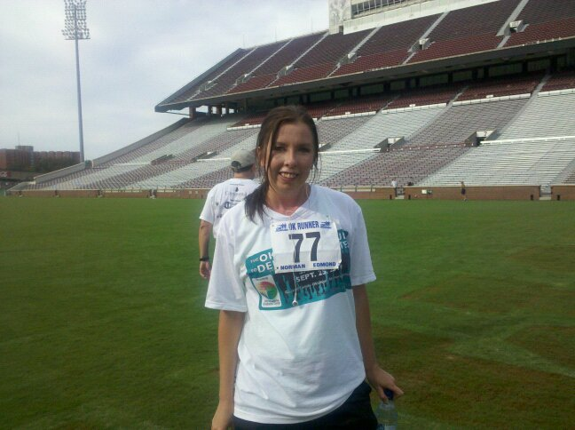 Me at the Field at OU