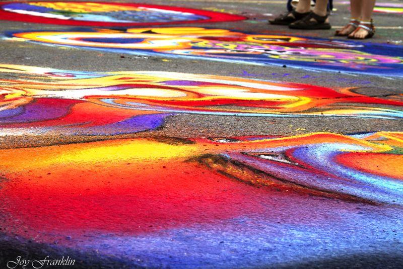 Vibrant Sidewalk Art