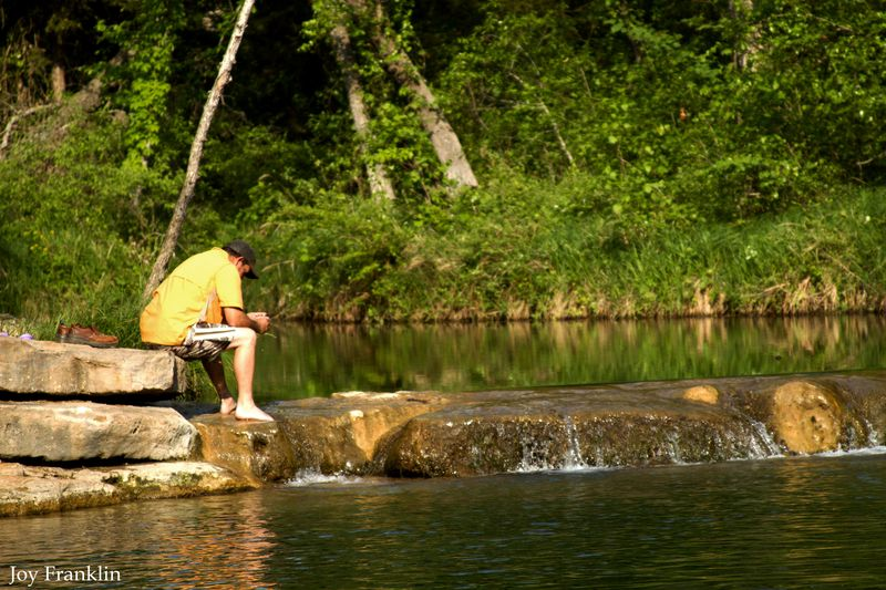 Ray at the Chickasaw National Recreation Area