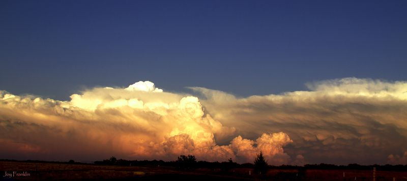 May Storm Clouds at Sunset