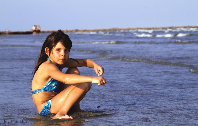 Ali on beach