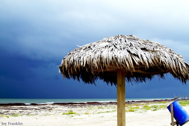 Stormy beach Quintana TX