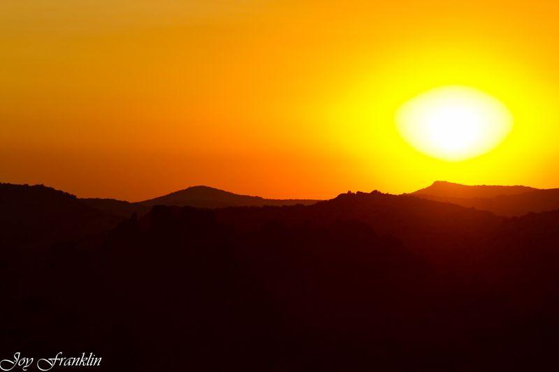 Sunset on the Wichita Mountains (1 of 1)