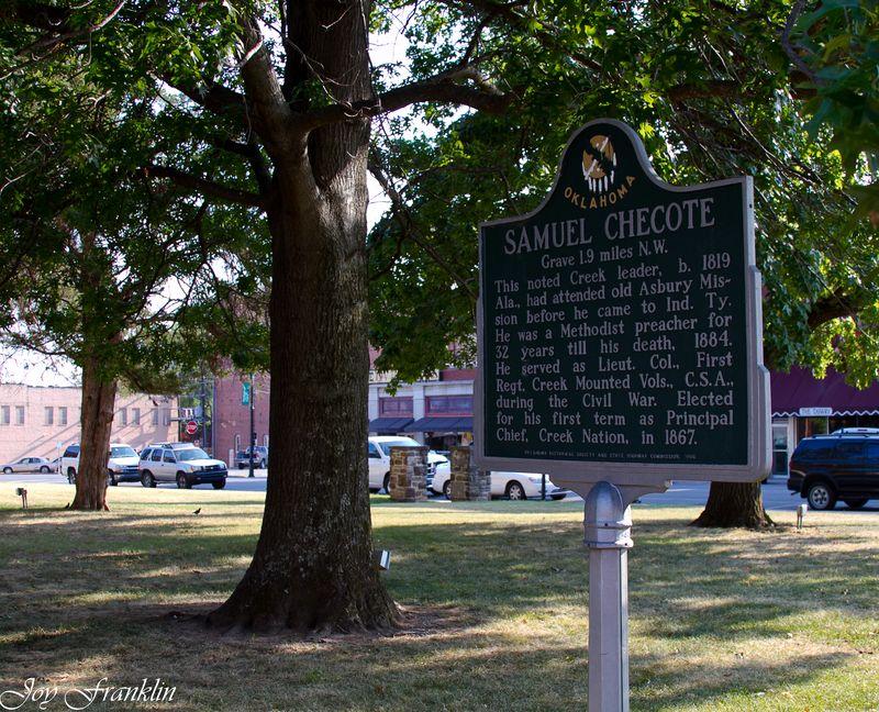 Samuel Checote Historical Marker (1 of 1)