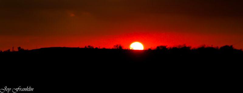 Glowing Setting Sun (1 of 1)