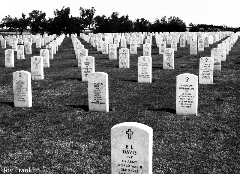 Ft Sill Ntl Cemetery Black and White 2