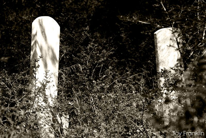 Old Cruce Cemetery in Black and White