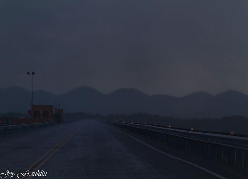 Rain on Sardis Dam (1 of 1)
