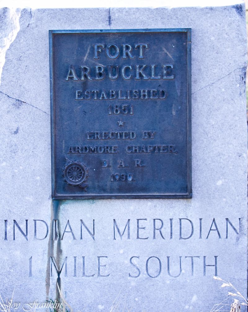 Fort Arbuckle marker-253