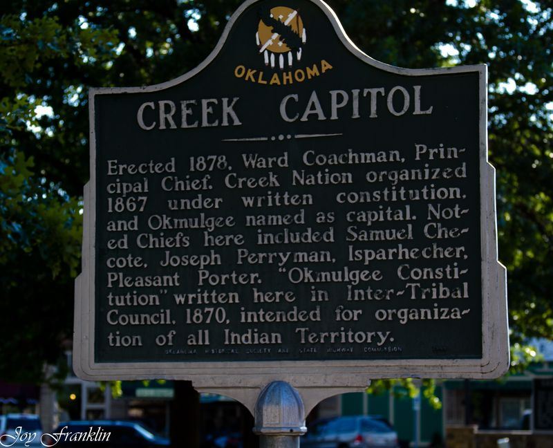 Creek Capitol Historical Marker (1 of 1)