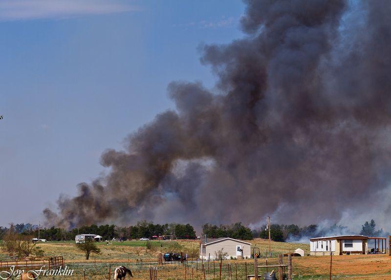 Rush Springs Wildfire view from Grandma's yard (1 of 1)