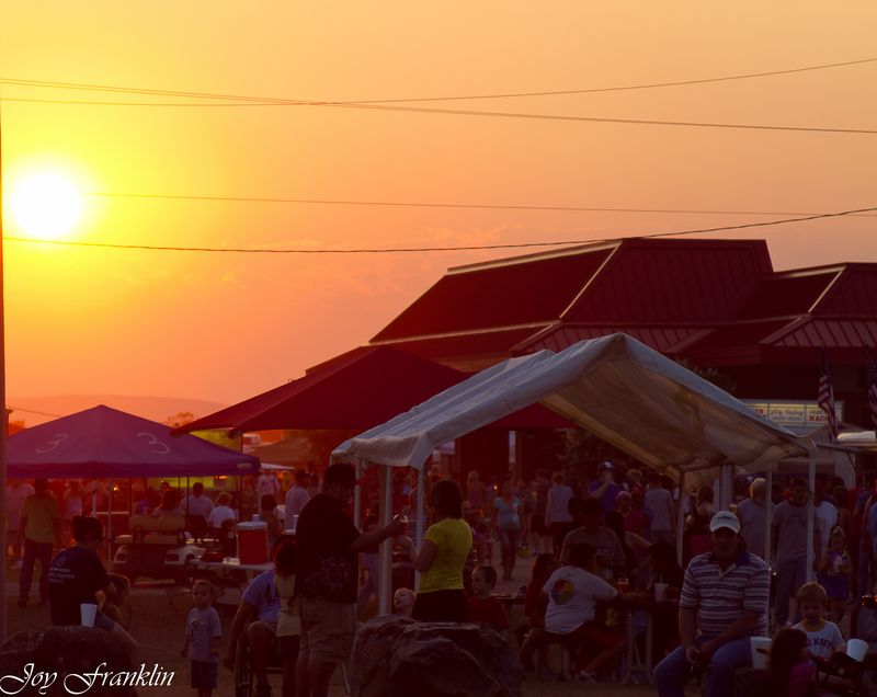 Sunset at the Choctaw Labor Day Festival (1 of 1)
