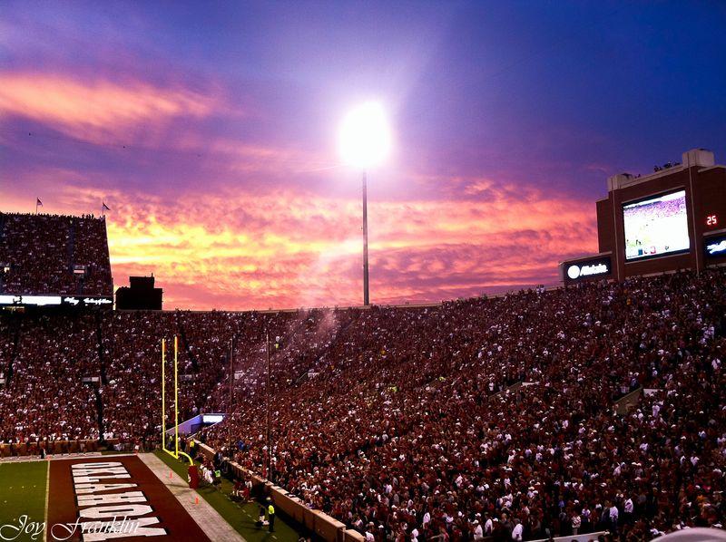OU Football Sunset 3 (1 of 1)