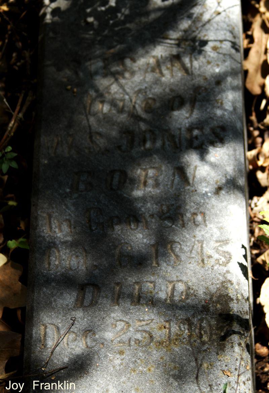Susand Jones Tombstone Cruce Cemetery 1907