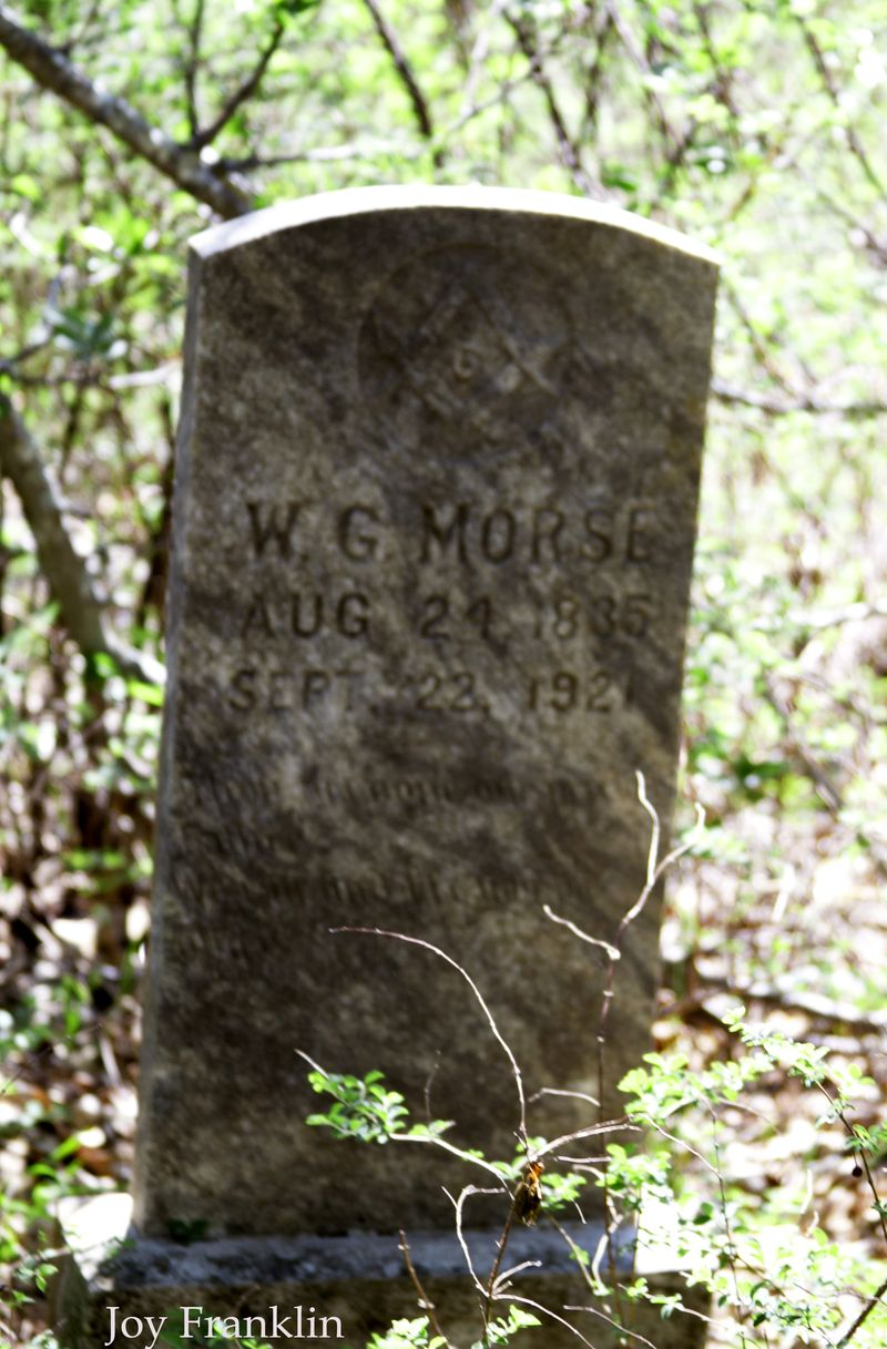Morse grave closeup
