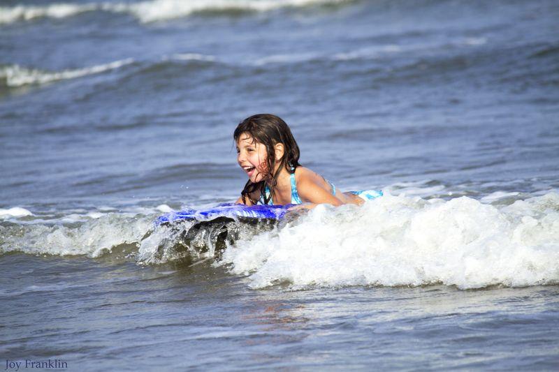 Ali on the ocean